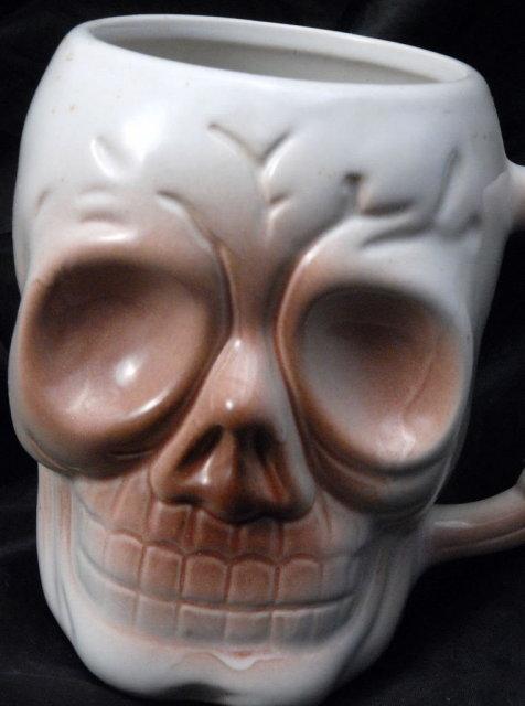 Ceramic Skull Coffee Mug