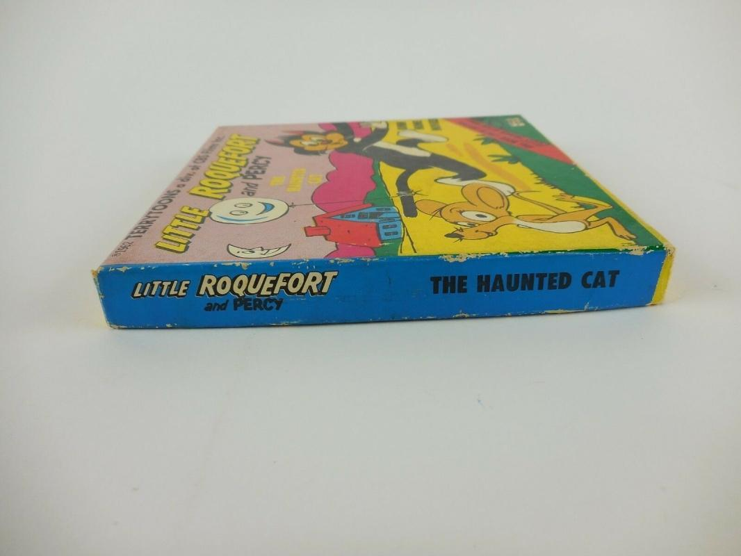 Vintage 8mm Home Movie ~ Little Roquefort and Percy Terrytoons: The Haunted Cat