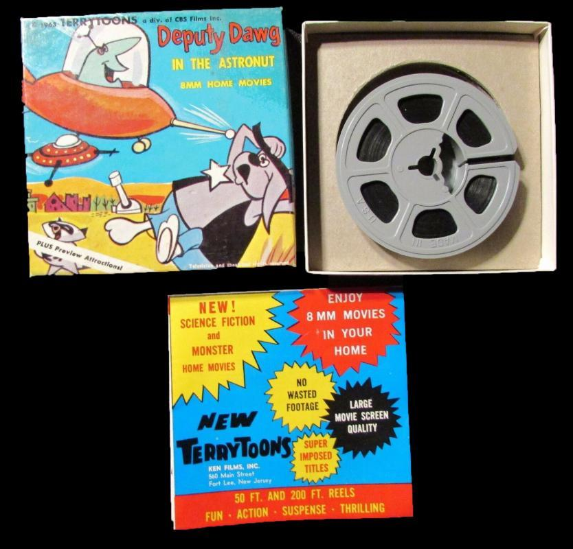 1963 DEPUTY DAWG In The Astronaut Ken Films 8mm #527 Terrytoons with insert