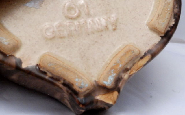 Old German Pottery Wall Pocket