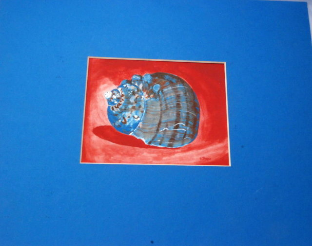 Moon Snail Shell Painting, Kathryn Russel 1982