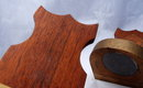 Old  Mahogany & Copper Weighted  Bookends