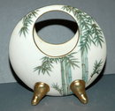 Hand Painted Porcelain Round Vase, HSK Seattle, USA made in Japan