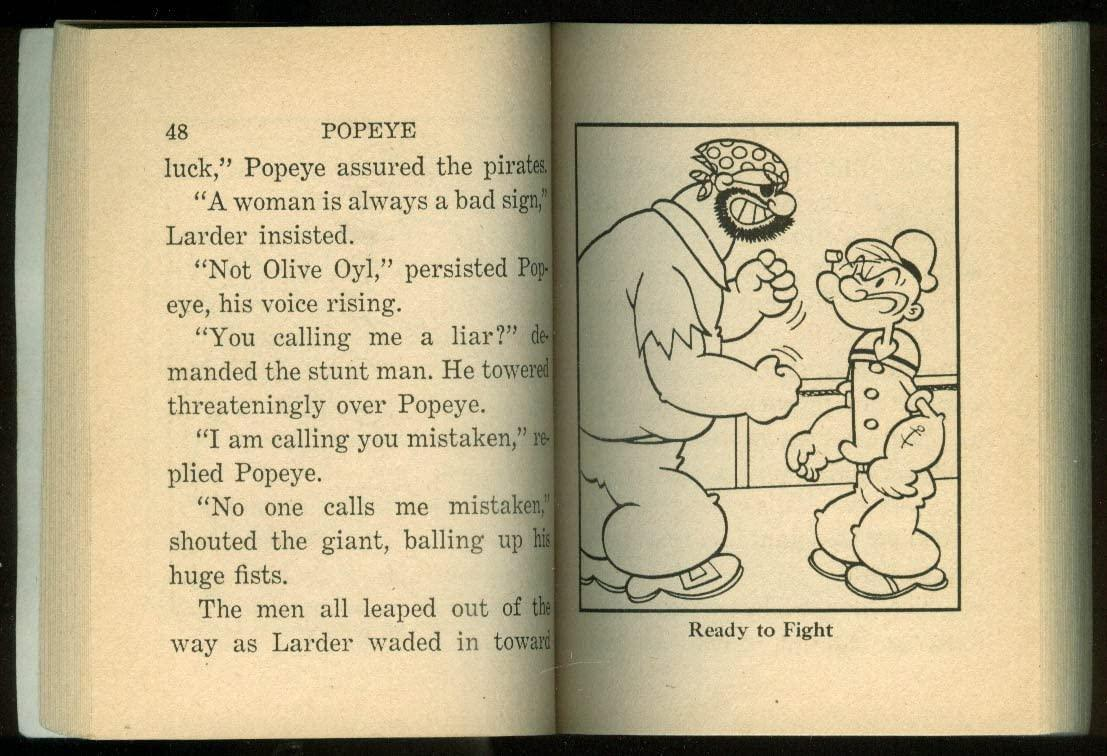 POPEYE: DANGER, AHOY! BIG LITTLE BOOK (Big Little Books)  byNewman, Paul S  1969 Whitman Publishing