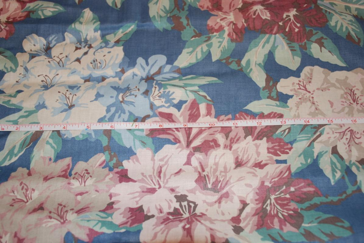 Vintage Waverly 100%  Cotton Drapery Panels x 3