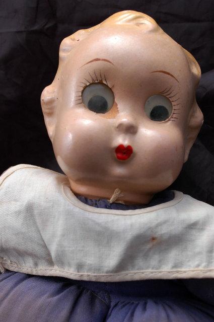 Ralph A. Freundlich, Inc. Googly Eyed Sailor Boy Doll 1937 / Composition head, cloth body with oversized legs