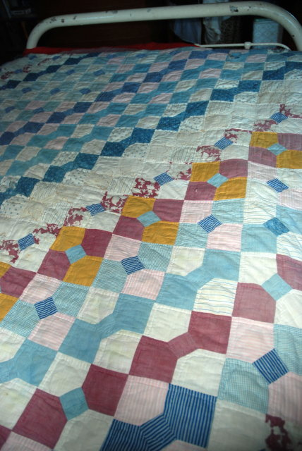Old Bow Tie Patch Work Quilt.