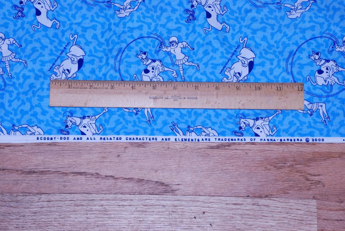 Scooby Doo  Novelty  Fabric, Yardage 2.11  yards x 44