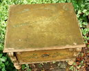 Antique painted small  table or stand  with drawer  1927