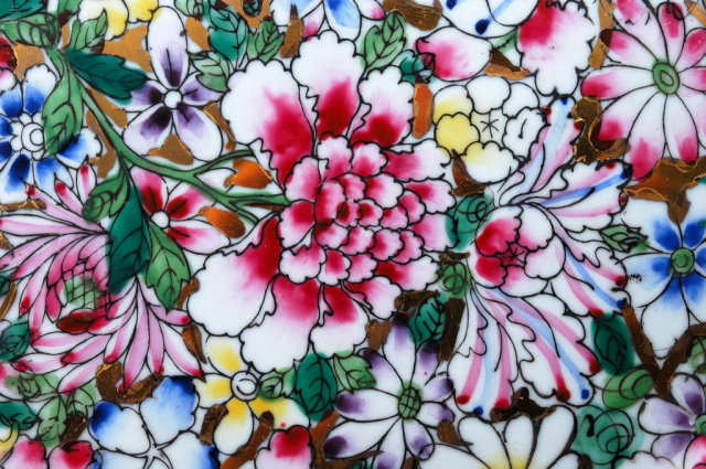 Millefleur Fine Famille Rose Gilt Porcelain  Plate, Charger