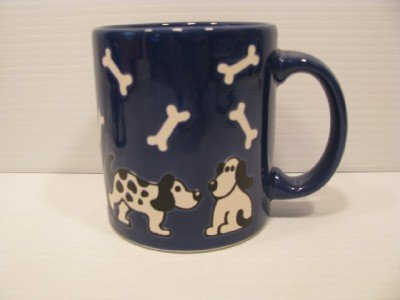 Blue with Dalmatian Puppy and dog Bones Wechtersbach  Germany coffee mug