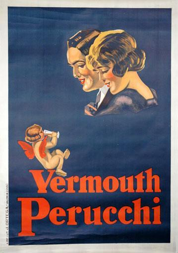 Original Vermouth Perucchi Vintage Spanish Advertising Poster 1926