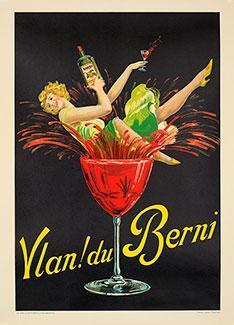 Vintage Original French Art Deco Cocktail Poster