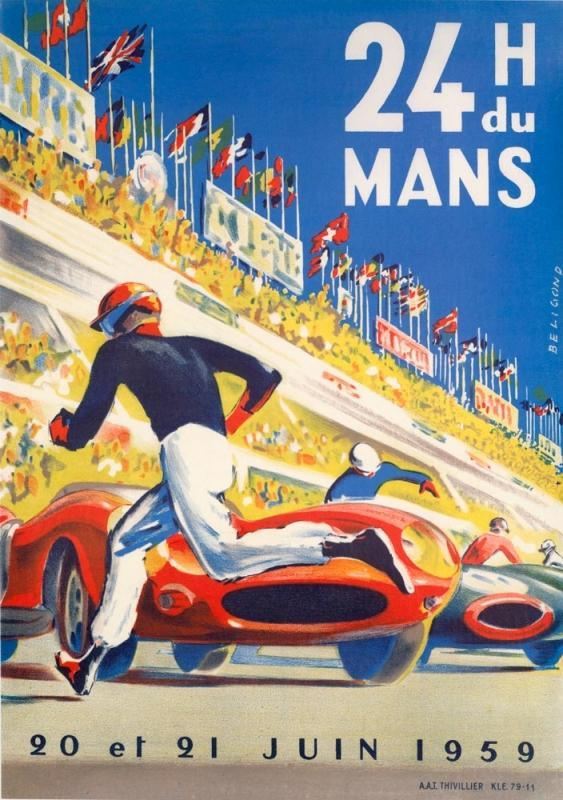 Monaco Grand Prix 24' Race Car Poster