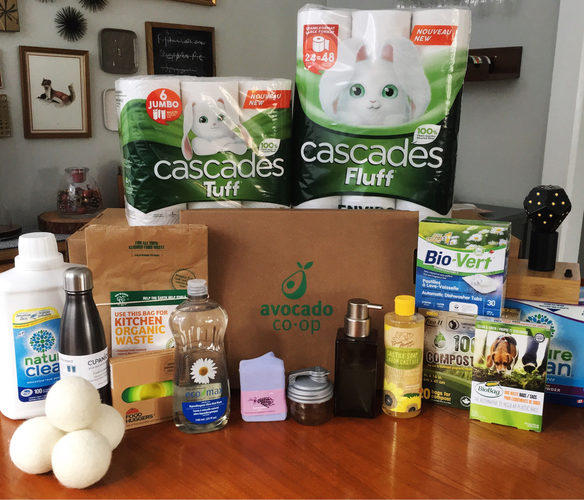 Collection of current Avocado products