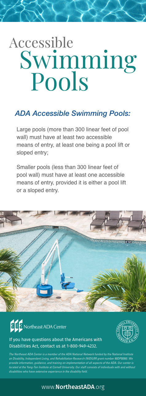 Infographic titled 'Accessible Swimming Pools':