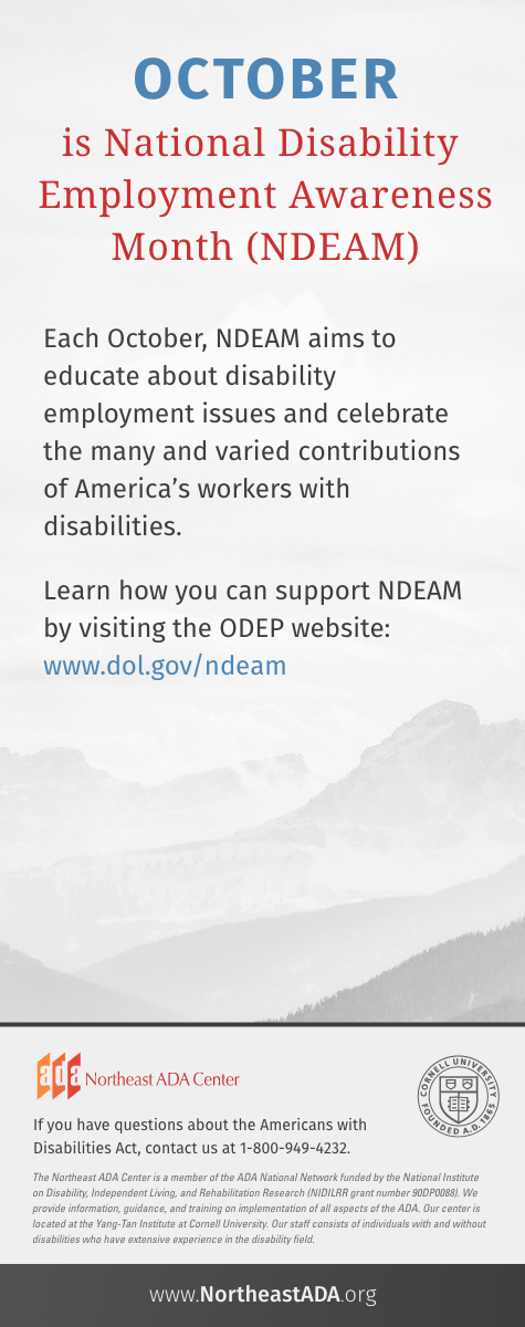 'October is National Disability Employment Awareness Month'