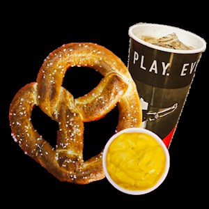 #5 - Soft Pretzel with side of Cheese and a Fountain Drink