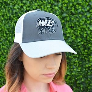 Grey and White Mesh back Anakeesta Bear Hat - $24.95