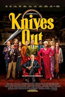 Acclaimed writer and director Rian Johnson (Brick, Looper, The Last Jedi) pays tribute to mystery mastermind Agatha Christie in Knives Out, a fun, modern-day murder mystery where everyone is a suspect. When renowned crime novelist Harlan Thrombey (Christopher Plummer) is found dead at his estate just after his 85th birthday, the inquisitive and debonair Detective Benoit Blanc (Daniel Craig) is mysteriously enlisted to investigate. From Harlan's dysfunctional family to his devoted staff, Blanc sifts through a web of red herrings and self-serving lies to uncover the truth behind Harlan's untimely death. With an all-star ensemble cast including Chris Evans, Ana De Armas, Jamie Lee Curtis, Don Johnson, Michael Shannon, Toni Collette, LaKeith Stanfield, Katherine Langford and Jaeden Martell, Knives Out is a witty and stylish whodunit guaranteed to keep audiences guessing until the very end.