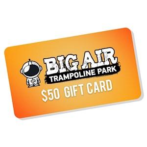 Big Air Gift Card Pick Up- $50