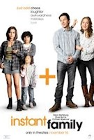 When Pete (Mark Wahlberg) and Ellie (Rose Byrne) decide to start a family, they stumble into the world of foster-care adoption. They hope to take in one small child but when they meet three siblings, including a rebellious 15-year-old girl (Isabela Moner), they find themselves speeding from zero to three kids overnight and trying to learn the ropes of instant parenthood in the hopes of becoming a family.