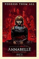 """Determined to keep Annabelle from wreaking more havoc, demonologists Ed and Lorraine Warren (Patrick Wilson and Vera Farmiga) bring the possessed doll to the locked artifacts room in their home, placing her """"safely"""" behind sacred glass and enlisting a priest's holy blessing. But an unholy night of horror awaits as Annabelle awakens the evil spirits in the room, who all set their sights on a new target - the Warren's ten-year-old daughter Judy (Mckenna Grace), and her babysitters (Madison Iseman and Katie Sarife)."""