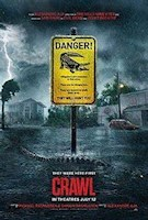 During a fierce Category 5 hurricane that hits a Florida town, Haley Keller (Kaya Scodelario) goes against the town's orders of evacuation in order to find her father Dave (Barry Pepper). Through finding him in a crawlspace basement of their family home in Coral Lake, the father and daughter realize that something sinister lives in the town. With absolutely no rescue and impossible escape, Haley and Dave have to escape rising waters and marauding alligators as they try to escape hurricane season.