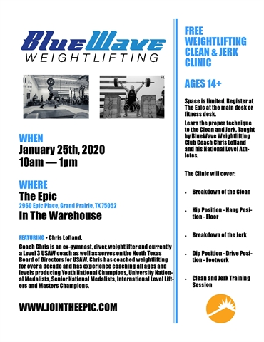FIT - Weightlifting Clean & Jerk Clinic