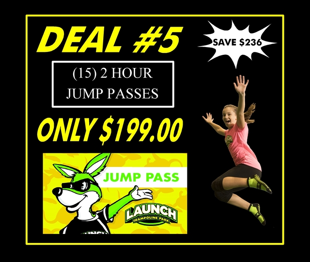 Deal #5 (15) 2 Hour Jump Pass