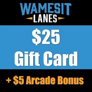 $25 Gift Card + $5 Arcade Bonus