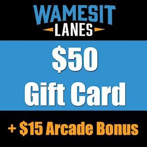 $50 Gift Card + $15 Arcade Bonus