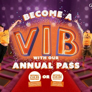 VIB Annual Pass Voucher: £10.95 PAID MONTHLY