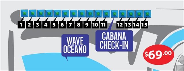*Wave Pool Cabanas