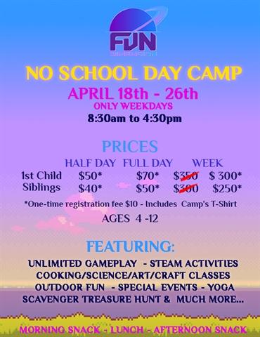 Full Day No School Camp
