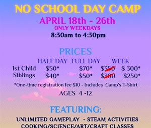 Weekly No School Day Camp