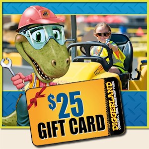 $25 Diggerland Gift Card