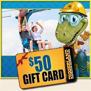 $50 Diggerland Gift Card