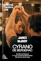 James McAvoy (X-Men, Atonement) returns to the stage in an inventive new adaptation of Cyrano de Bergerac, broadcast live to cinemas from the London's West End.  Fierce with a pen and notorious in combat, Cyrano almost has it all - if only he could win the heart of his true love Roxane. There's just one big problem: he has a nose as huge as his heart. Will a society engulfed by narcissism get the better of Cyrano - or can his mastery of language set Roxane's world alight?  Edmond Rostand's masterwork is adapted by Martin Crimp and directed by Jamie Lloyd (Betrayal). This classic play will be brought to life with linguistic ingenuity to celebrate Cyrano's powerful and resonant resistance against overwhelming odds. | SHOWING AT THE ROSS THURSDAY, FEBRUARY 20 - 7:00 P.M. and SUNDAY, FEBRUARY 23 - 1:00 P.M.