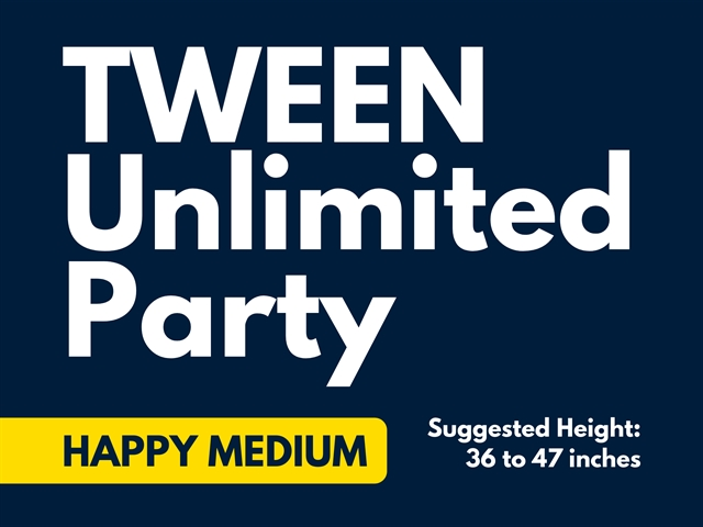 2019 Tween Unlimited Party