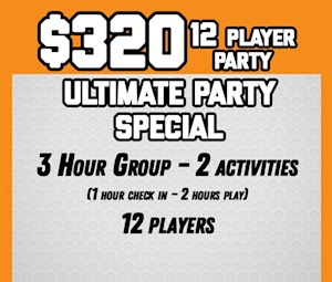 3 Hour Ultimate Party Package