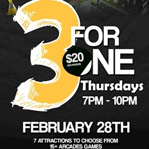 FEB 28th 3 for 1