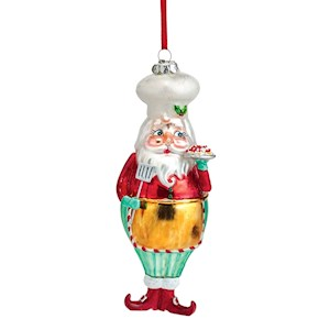 Baking Santa Ornament