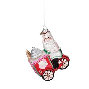 Santa Candy Cart Ornament