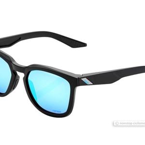 100% Hudson - Hiper Black/Blue Lens