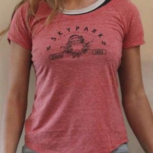 .Skypark Scoop Ladies T Shirt Red