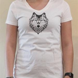.Arrow V-Neck Ladies T Shirt White