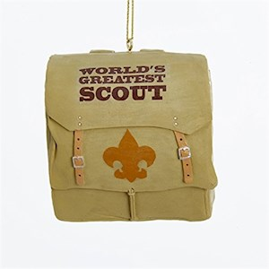 "2.75""Resin Boy Scout Back Pack Ornament"