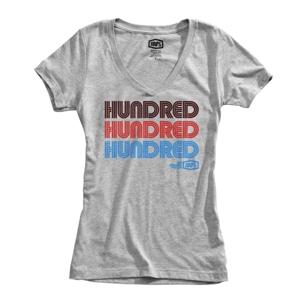 100% Hundred Womnas Tshirt Grey