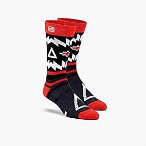 100% Jeronimo Athletic Socks Black/Red